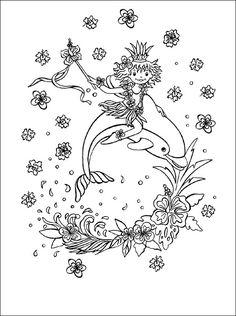 Malvorlagen Prinzessin Lillifee und der kleine Delfin | Ausmalbilder kostenlos und gratis Malvorlagen