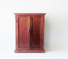 Vintage Wood Doll Armoire Wardrobe   American Heirloom Collection    Furniture For Girls Doll   Wood Cabinet   Large Doll Accessory