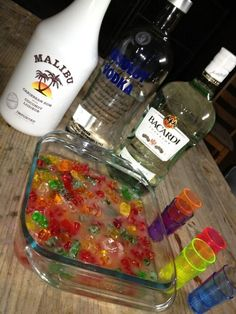 gummy bears for bachelorette party... remember how good these were when Richies sis made them ....yum