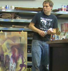 shepard fairey in his studio