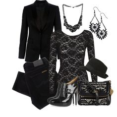 """""""BLACK!!"""" by justjules2332 on Polyvore"""