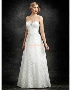Ella Rosa A-linie Süße Liebste Brautkleider aus Softnetz mit Applikation