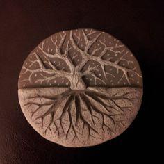 Polymer Clay Tree Sculpture by DavidCoates.deviantart.com on @deviantART