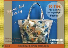10 tips for sewing heavyweight fabrics. Butterick B6188 sewing pattern review and fixes with detailed images.