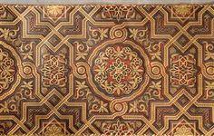 Vare: 3593540 Tapeter imitation av gyllenläder rutmönstrad svart/guld (2)