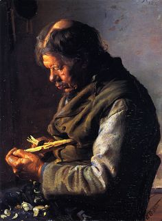 Ancher, Anna (1859-1935) - 1880 Lars Gaihede Whittling a Stock (Skagens Museum, Denmark) by RasMarley, via Flickr