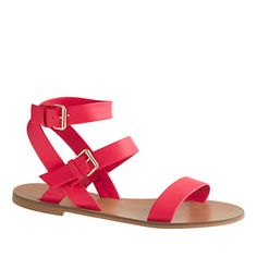 J.Crew - Leila ankle-wrap sandals. We are in love... this is a must have in your wardrobe this spring!
