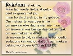God se Liefde is groot - Maria Els Labuschagne I Miss You Wallpaper, Evening Greetings, Afrikaanse Quotes, Goeie More, Qoutes About Love, The Secret Book, Prayer Quotes, Bible Quotes, Bible Verses