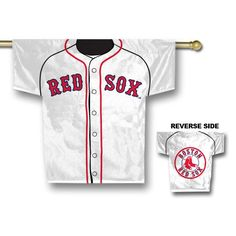 MLB Boston Red Sox 34 x 30Inch Jersey Banner -- You can find out more details at the link of the image.