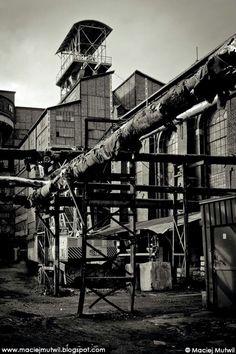 Mysłowice. Nieczynna kopalnia węgla kamiennego. 15 km od naszego hotelu. Myslowice, Silesia. Old coal mine. 15 km from our hotel.