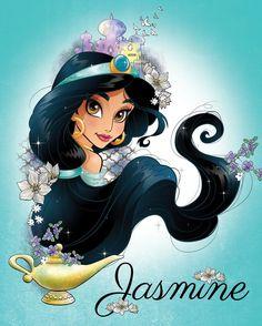 Disney Princesse Jasmine, Princess Jasmine Art, Aladdin And Jasmine, Disney Princess Art, Disney Princess Pictures, Aladdin Princess, Film Disney, Disney Nerd, Arte Disney
