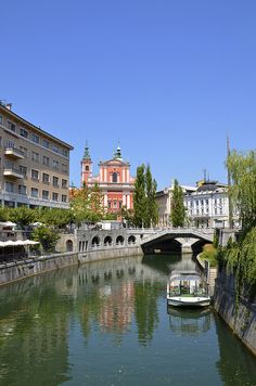 Ljubljana, Slovenia. Oddly enough, I had some of the best pizza that I've ever tasted here. Oh and stallion carpaccio.