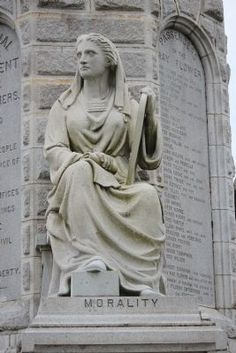 Morality, Forefathers monument, Plymouth, Ma