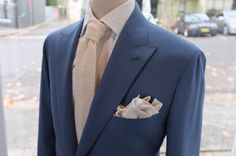 Suit : Dugdale powder blue Tie : Drakes for PJOHNSON Pocket square : Wool/ silk by PJOHNSON For: BA
