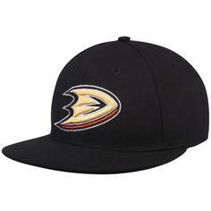 72b797fdd45 Men s adidas Black Anaheim Ducks Basic Fitted Hat