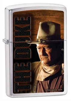 Sexy Zippo Lighter Designs | John Wayne The Duke Custom Lighter by Zippo