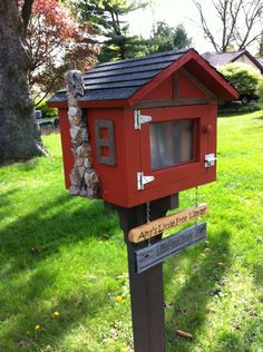 Free Little Library....take a book, return a book. #littlefreelibrary
