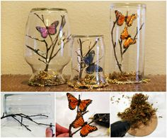 Butterfly Glass Jars are A Beautiful Upcycle