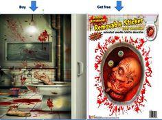 Creepy-Crapper-Restroom-Door-Coverget-Toilet-Severed-Head-Cling-gift-Limit-STOK