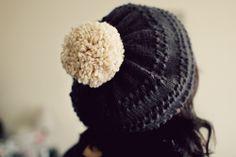 beret with pom pom