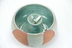 Great cigar ashtray, Turquoise ashtray, ceramic ashtray, for Garden table or…
