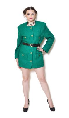 green blazer outfit emerald US$29.95