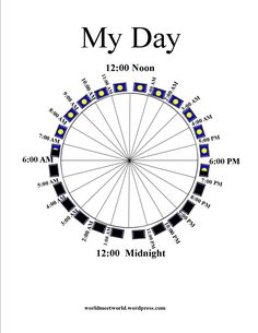 Time Management 24 Hour Pie Chart- created via @Cacophony