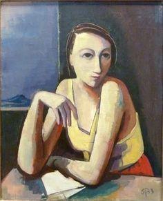 Karl Christian Ludwig Hofer (German, 1878-1955) Madame at the Table, 1933