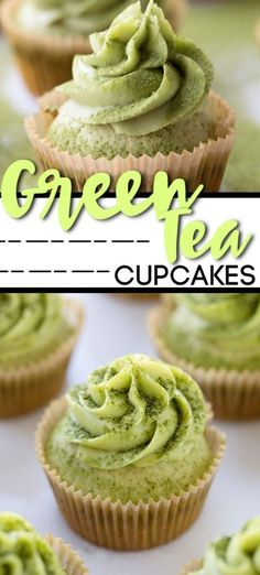 I can't tell you how excited I am to share these matcha green tea cupcakes. Refreshingly different from your traditional cupcake, they're absolutely the matcha green tea cupcakes Green Tea Cupcakes, Matcha Cupcakes, Fancy Cupcakes, Coffee Cupcakes, Green Tea Cups, Green Tea Ice Cream, Matcha Green Tea, Green Teas, Best Dessert Recipes