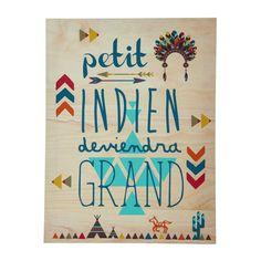 Toile indien 38 x 50 cm APACHE / jolies couleurs
