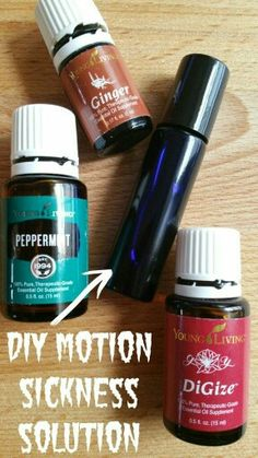 DIY Blend for motion sickness