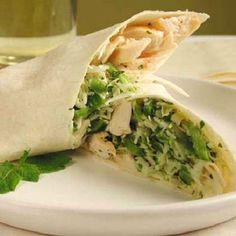 2. Chicken and Mint Coleslaw Wrap Low Sodium Recipe... - 7 Extremely Delicious Low Sodium Recipes... → Diet