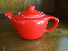 Small Red Tea Pot Shenango Restaurant Ware by TheShastaLakeShop