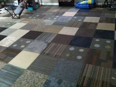 Carpet Tiles!! Cheap and efficient!! Perfect for my Craft Room!