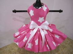 Dog Dress XS Hot Pink with White Stars by NinasCoutureCloset