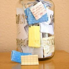 This January, why not start the year with an empty jar and fill it with notes about good things that happen. Then, on New Years Eve, empty it and see what awesome stuff happened that year.