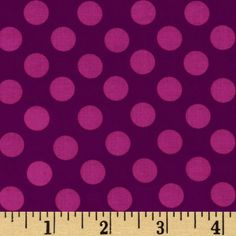 Michael Miller Ta Dot Jewel from @fabricdotcom  Designed for Michael Miller Fabrics, this cotton print is perfect for quilting, apparel, crafts, and home decor items. Colors include shades of jewel-tone purple.