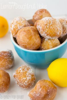 Easy Lemon Donut Holes | crazyforcrust.com