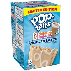 Pop-Tarts Dunkin Donuts Frosted Vanilla Latte Toaster Pastries, Ounce, 8 Count: Taste the indulgent vanilla flavor and the creamy latte goodness of Dunkin' Donuts coffee - now in a coffee-licious Pop-Tart. Mmm, eat it up! Pop Tart Flavors, Donut Flavors, Oreo Flavors, Funny Food Memes, Food Humor, Stupid Memes, Oreo Pop Tarts, Cafeteria Food, Unicorn Foods