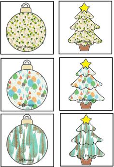 Juf Emmy! Memory kerstboom / bal Deel 2 Christmas Activities For Kids, Preschool Christmas, Christmas Crafts, Christmas Is Coming, Christmas And New Year, Visual Motor Activities, Tree Study, Santa's Little Helper, Matching Cards