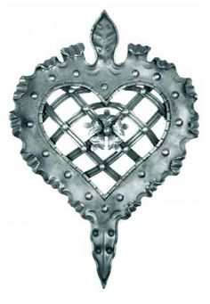 "BUY $200 GET 10% OFF - DIY Wall Decor 18 This piece made of hand forged steel. It is heart shaped and would be perfect in any decor and with it's stunning romantic image would be our choice for over a bed with curtains draped from it on either side.  It has leafy edges with small crossed lattice work filling the middle of the heart, also with a decoration in the middle. H: 20-1/16""  W: 14-9/16""    Weight: 6.78 lbs."
