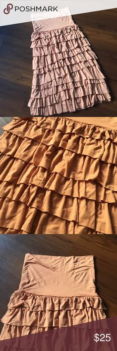 Lapis by Anthropologie ruffled skirt Great fold over skirt or dress. Anthropologie Skirts Maxi