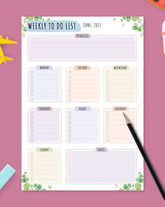 Weekly Todo List template features original business style. Organize everything, get things done and stay productive every day and every week. It comes in a ready-to-print format. #to-do #list #template #todo #weekly Weekly Schedule Planner, To Do Planner, Meal Planner, Happy Planner, List Template, Planner Template, Printable Planner, Printables, Templates