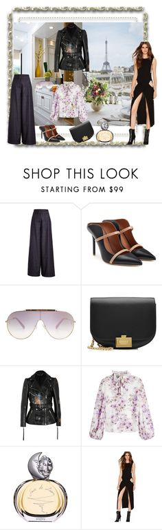 """""""la parisienne"""" by snowmoon ❤ liked on Polyvore featuring Rejina Pyo, Malone Souliers, Victoria Beckham, Alexander McQueen, Giambattista Valli and Sisley"""