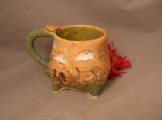 Stoneware Mug Pup Cup by joycepottery on Etsy, $30.00