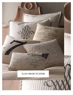 French Laundry pillows for couches on Audubon Tea Room courtyard/patio