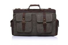 Betus Vintage Mens Womens Canvas + Leather Travel Messenger Shoulder Bag (ArmyGreen) Betus http://www.amazon.com/dp/B0142JRGTC/ref=cm_sw_r_pi_dp_.6v8vb1GPFDSQ