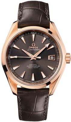 Omega Constellation Brown Dial 18kt Rose Gold Brown Leather Automatic Men's Watch 231.53.42.21.06.001 - Constellation - Omega - Shop Watches by Brand - Jomashop