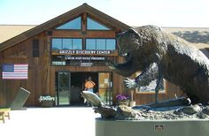 The Grizzly & Wolf Discovery Center west entrance to Yellowstone National Park