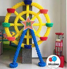 Spectacular structure! Circus 1st Birthdays, Circus Birthday, Circus Theme, Circus Party, Circus Clown, Balloon Tower, Balloon Display, Balloon Wall, Balloon Arch